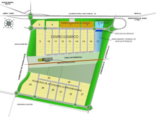 Plano Ciudad del Transporte